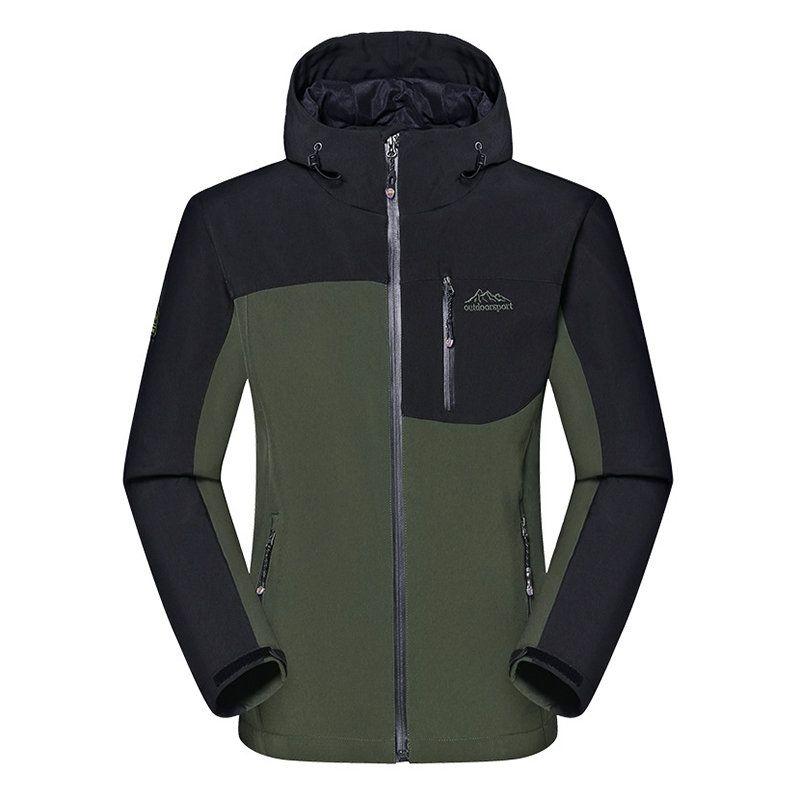 Men/'s Waterproof Wind Proof Hooded Jackets Hiking Coat Outwear Softshell Outdoor