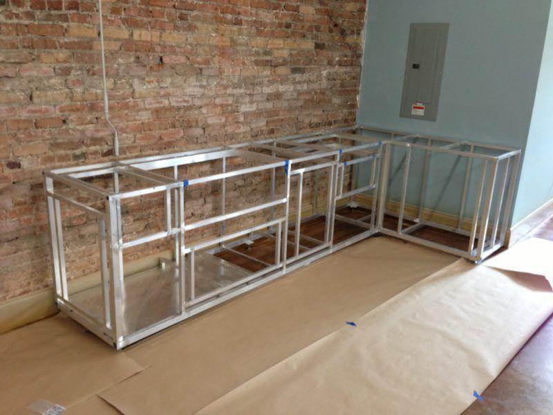 6 ft outdoor kitchen island frame kit fireside outdoor