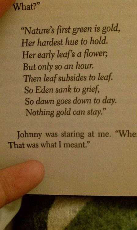 why did robert frost wrote nothing gold can stay