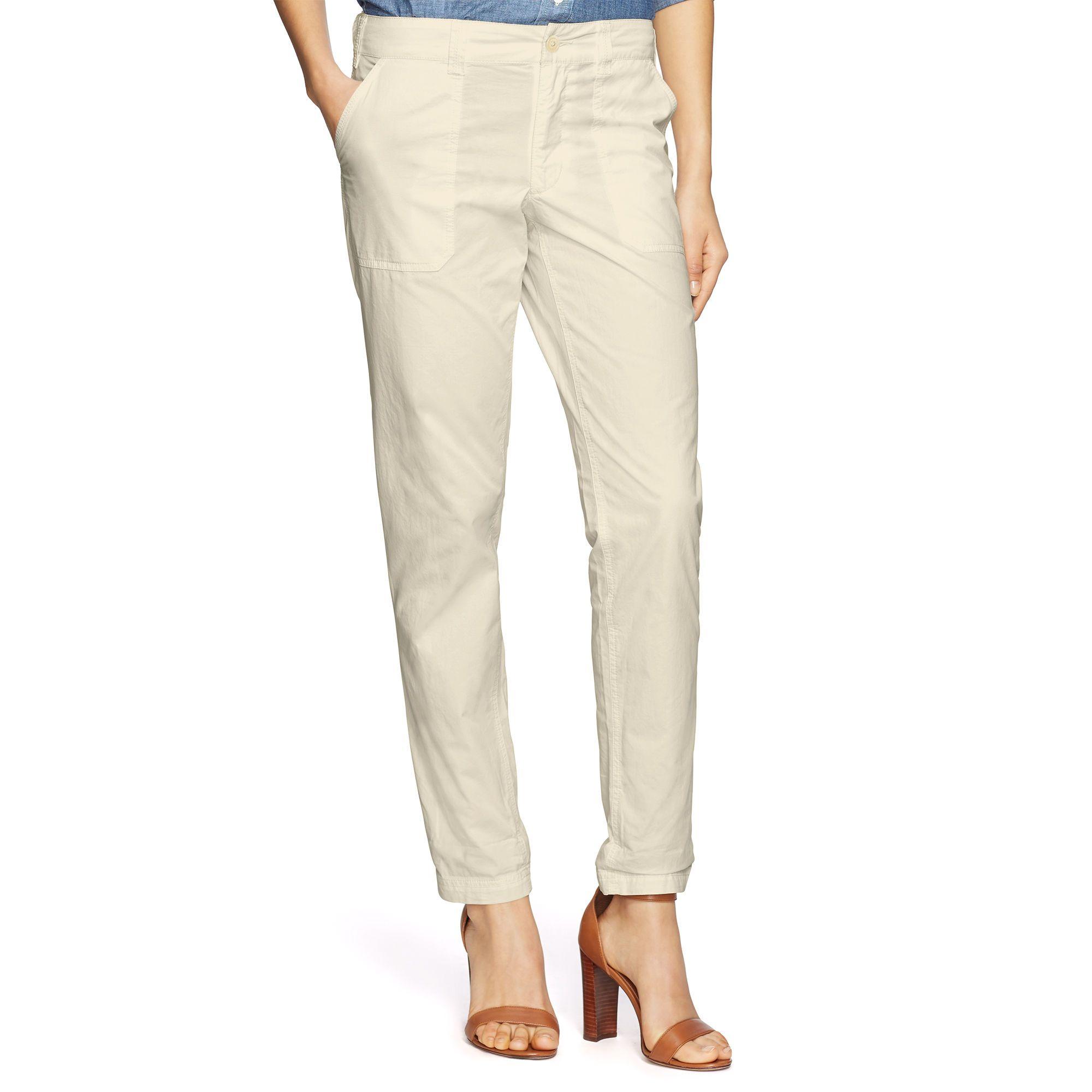 Straight Cotton Twill Pant - Sale  Pants, Jumpsuits & Shorts - RalphLauren.com