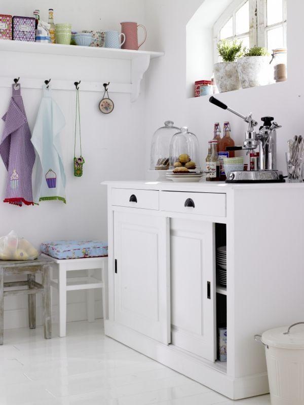 Decoraci n de cocinas peque as color blanco mi hogar for Decoracion cocinas blancas pequenas