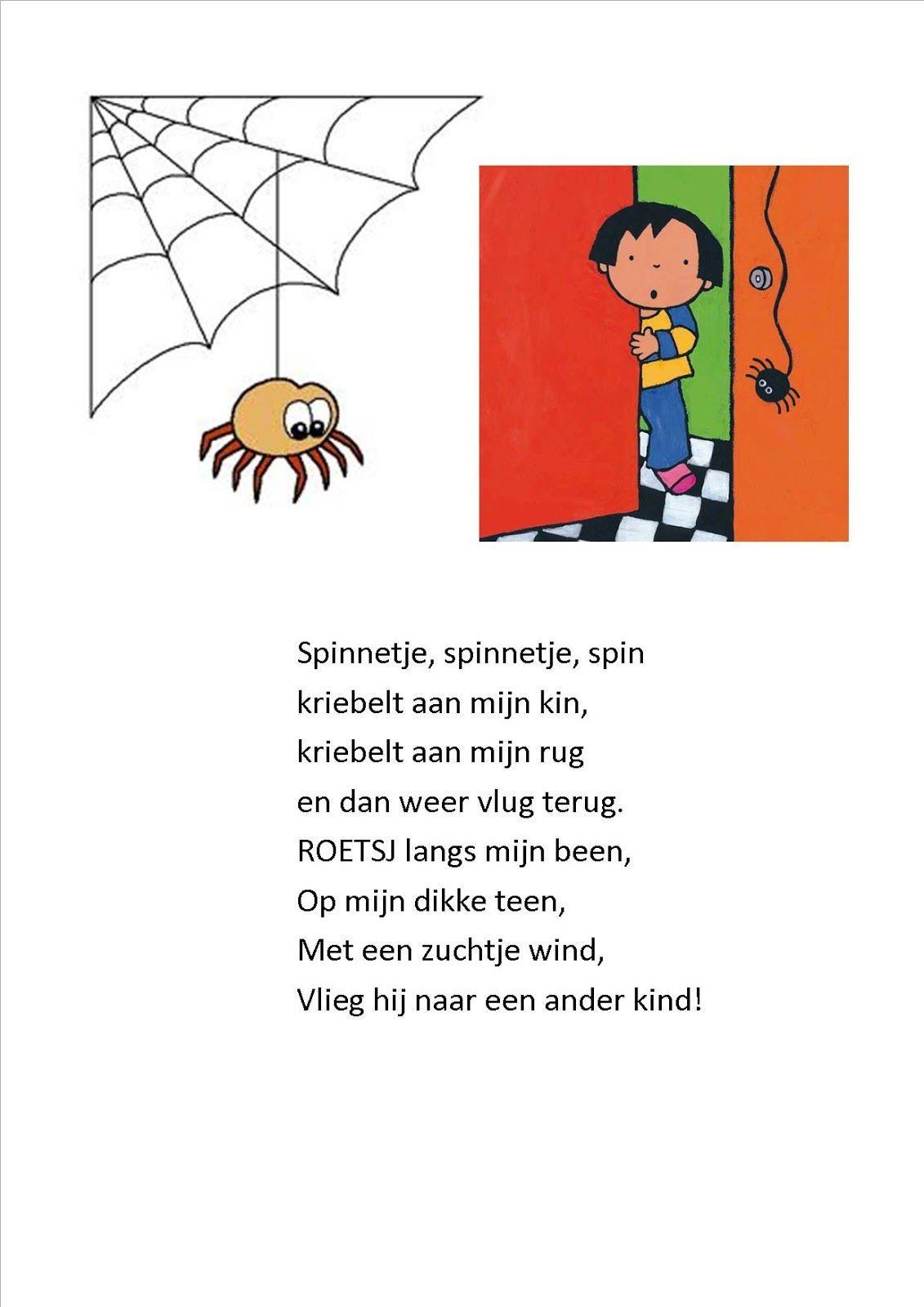 EEN SPINNETje een spinnetje dat kriebelt aan mijn kinnetje - Google zoeken    Thema, Herfst activiteiten, Herfst halloween