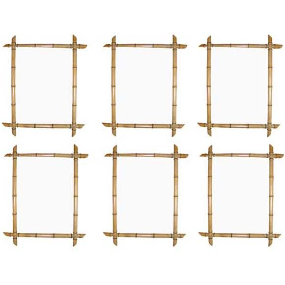 Set of Six Carved Bamboo Frames   Picture frame molding, Picture ...