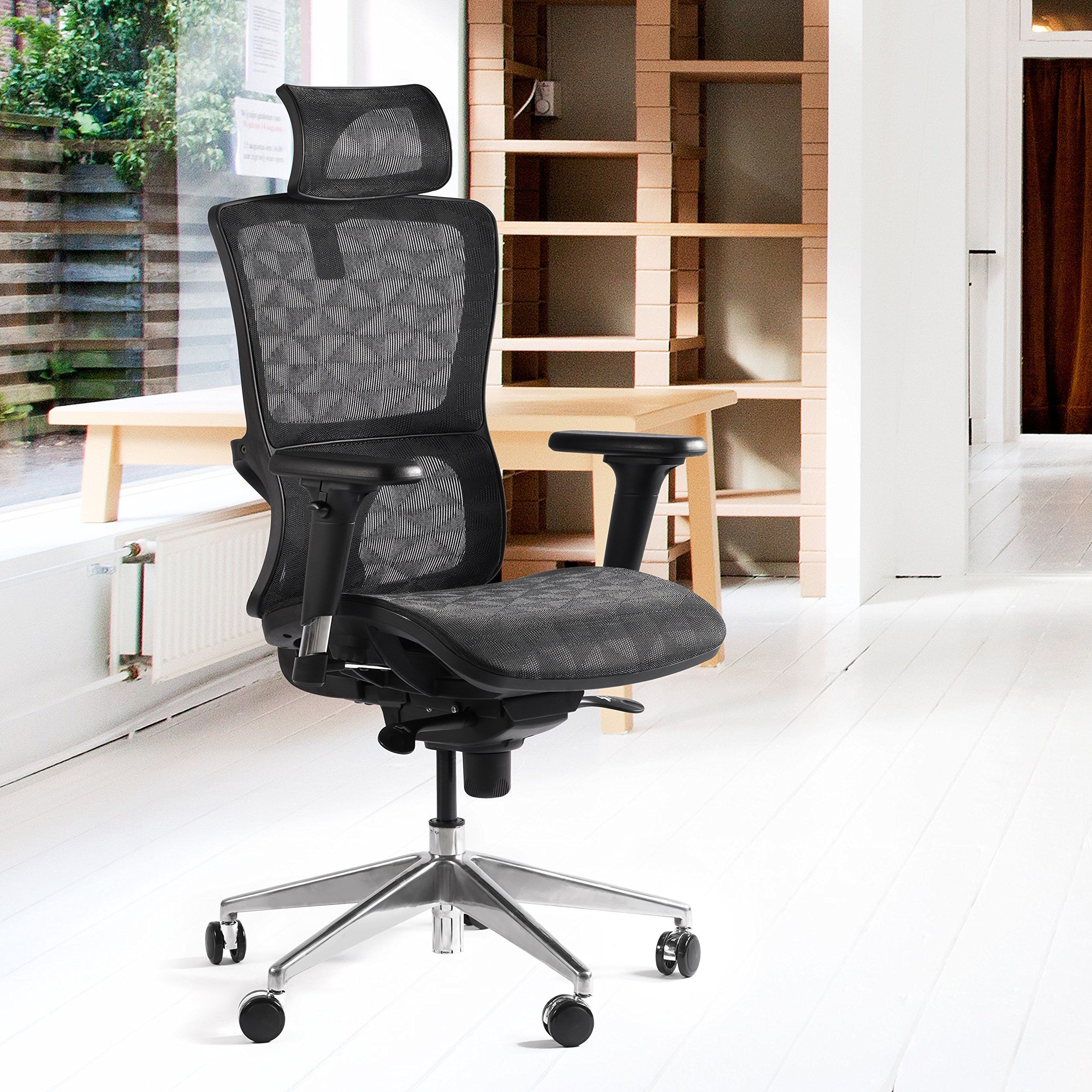 Everking high back mesh ergonomic office chair with