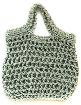 Free Reusable Crocheted Grocery Bag Pattern Crochet Grocery Bag