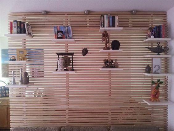 Ikea Mandal Bett Kopfteil Umbauen Wohnzimmer Wandregale