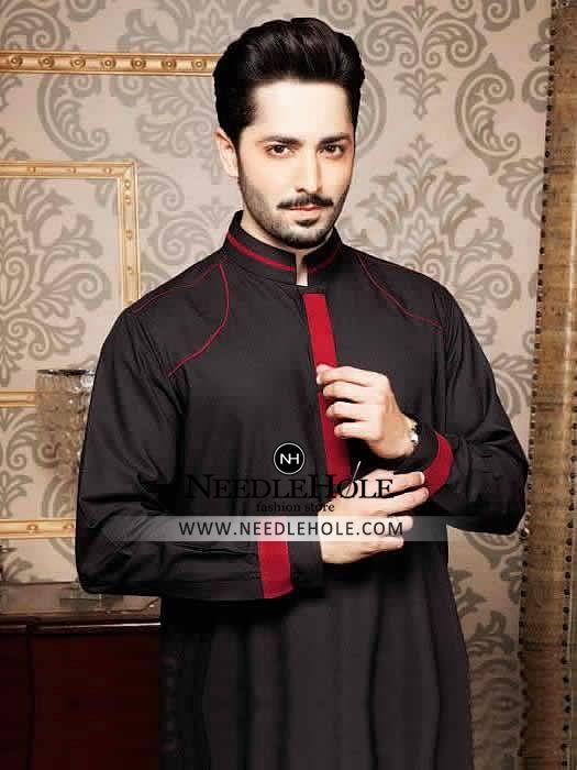 e987887c6a Resplendent kurta shalwar suit for men in dark sapphire colour in 2019 |  Pakistani/Indian Fashion | Mens suits, Kurta pajama men, Kurta men