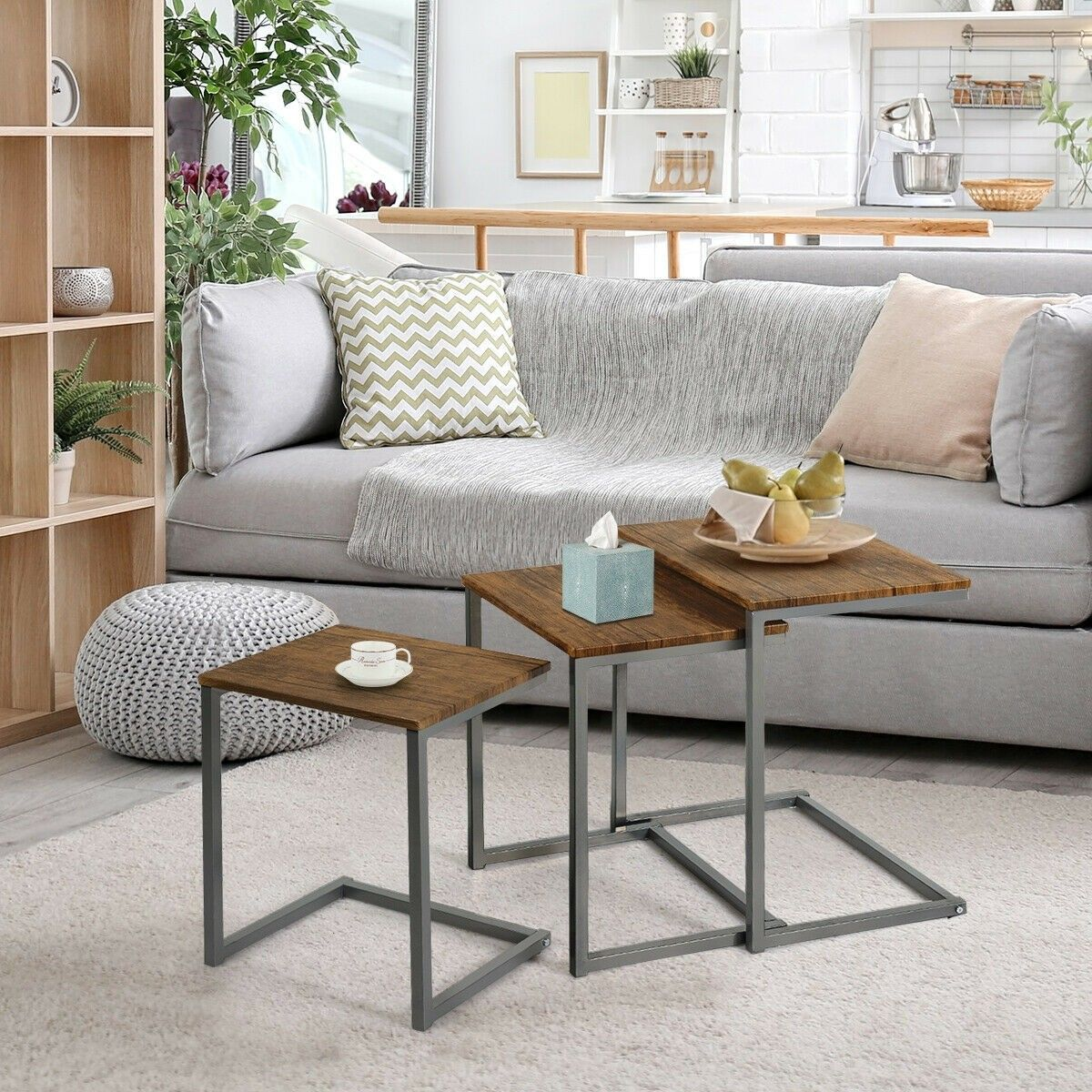3 Pices Multifunctional Coffee End Table Set 49 95 Free Shipping The Sofa Side Tables Are In Living Room Table Sets Living Room Table Modern Home Furniture