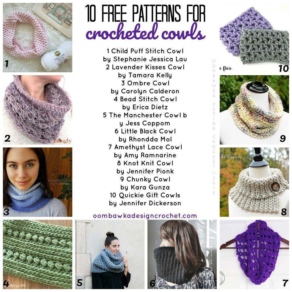 10 Free Crochet Patterns for Cowls | crochet 41 | Pinterest