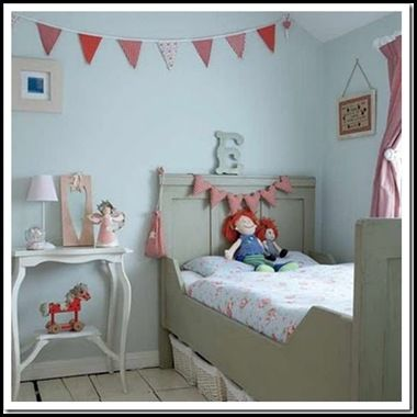 Girls Bedroom Blue And Pink pink sky blue grey gray kids bed little girls room bedroom decor
