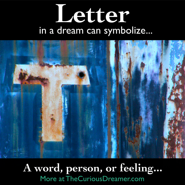 In A Dream A Letter Of The Alphabet Can Mean More At