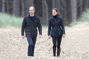 Prince William, Duke of Cambridge and Catherine, Duchess of Cambridge on a visit to Newborough Beach where they met the Menai Bridge Scouts and explored the beach's wildlife habitat. During a visit to North Wales on May 08, 2019 in Various Cities, United Kingdom. #northwales