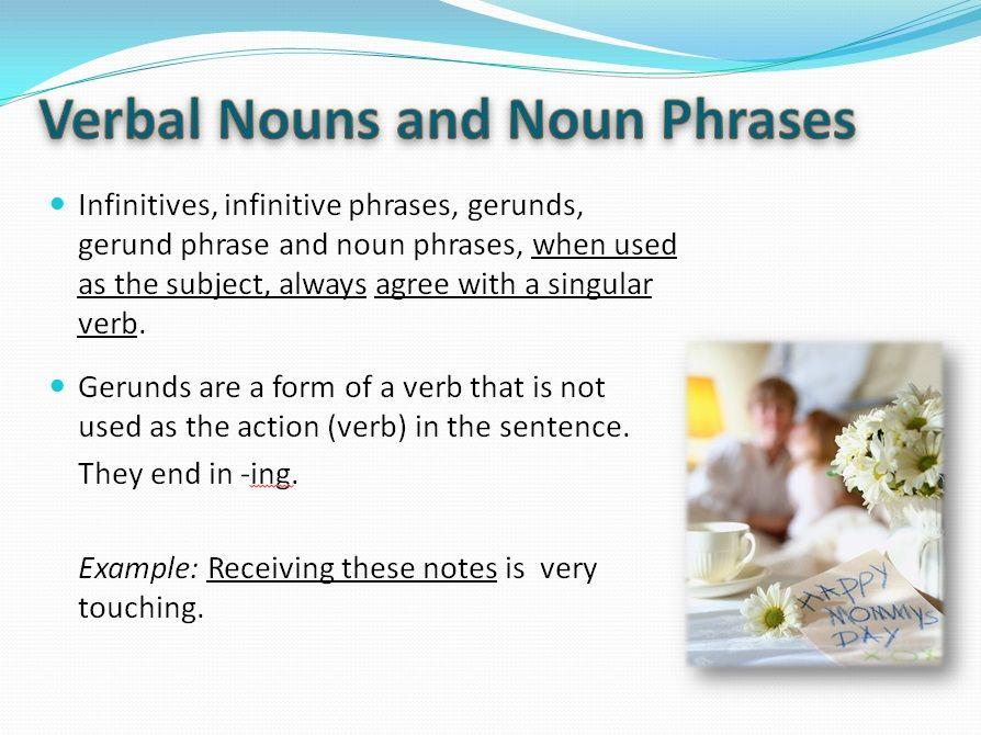 Verbal Nouns Noun Phrases 1 English Pinterest English