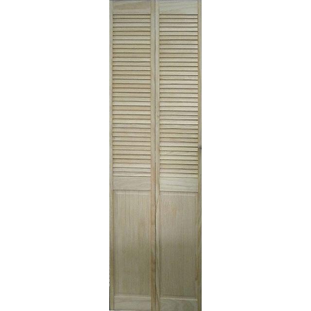 Porte 1 2 persienne bois 205 x 91 cm castorama 105 107 entr e pinte - Castorama portes placard ...