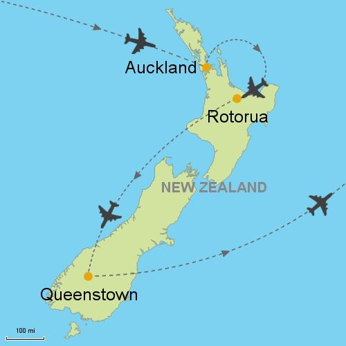 Map Of Rotorua New Zealand.Auckland Rotorua Queenstown New Zealand In 2019