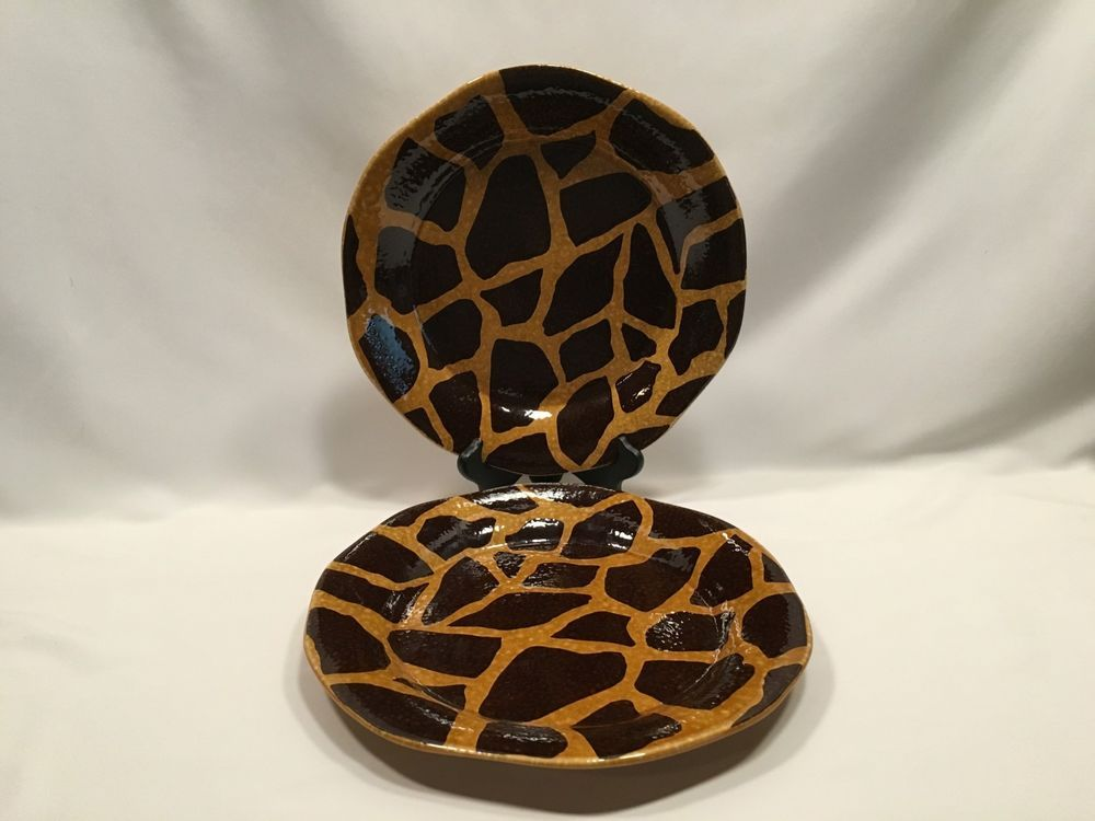 Dario Farrucci Animal Print Dinner Plates 10 3/4u2033 Set of 2 #DarioFarrucci & Dario Farrucci Animal Print Dinner Plates 10 3/4u2033 Set of 2 ...