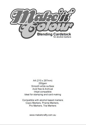 Make it Colour Blending Card compatible with alcohol based markers like Copic, Touch Twin, ProMarker, Spectrum Noir, Tria etc.