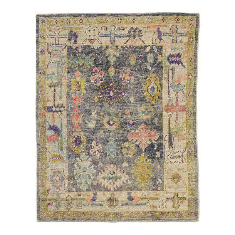 contemporary turkish oushak rug with pastel colors and tribal boho chic style products rugs on boho chic kitchen rugs id=20609