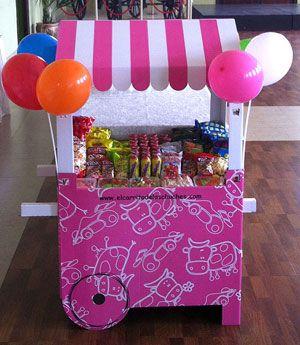 Carrito chuches rosa para la organizaci n de fiestas for Carritos chuches comunion