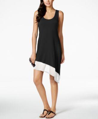 8f24665476ff1 CALVIN KLEIN Calvin Klein Asymmetrical Tank Dress Cover Up. #calvinklein # cloth # swimwear