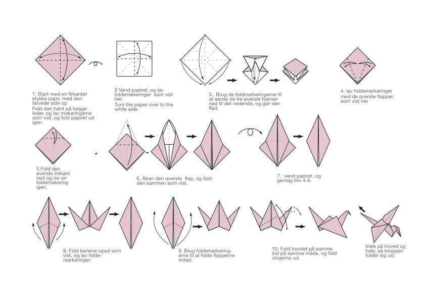 Origami Crane Folding Instructions Origami Crane Tutorial