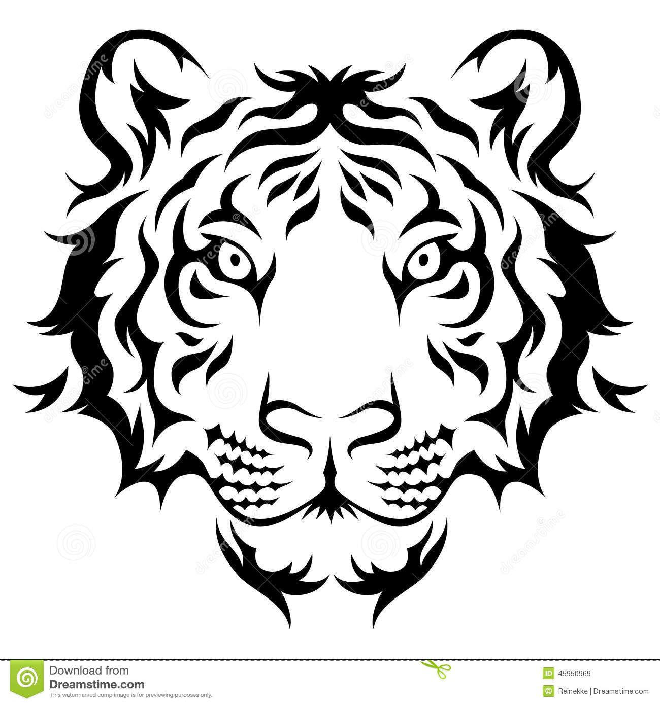 tribal tiger stock vector image 45950969 ideas para