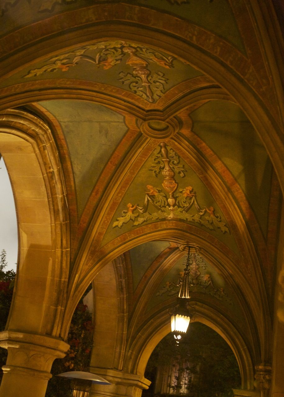 Ceiling Along The Colonnade At Chateau Marmont
