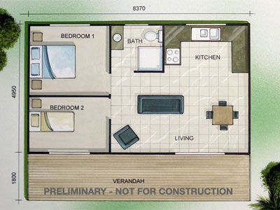 Granny flats floor plans home design granny pod for Granny house floor plans