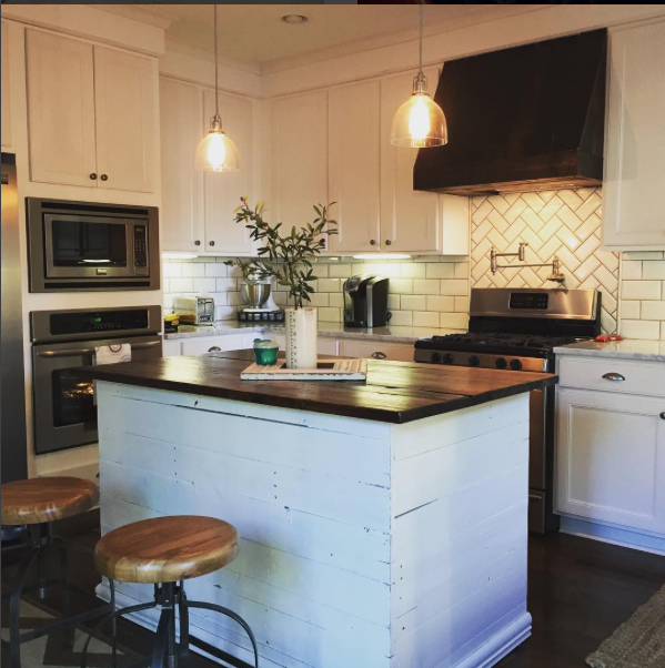 shiplap wrapped island kitchen inspirations kitchen remodel shiplap kitchen on kitchen layout ideas with island joanna gaines id=85596