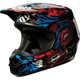 Fox Racing V1 Creepin Helmet 2014 #foxracing #foxmx #motocrossgear #motocross #mx #dirtbikes #atvs #utvs #trackfashion #2014 #helmet