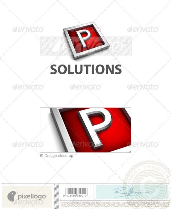 P Logo - 3D-549-P Logo templates, Logos and 3d - p&l template