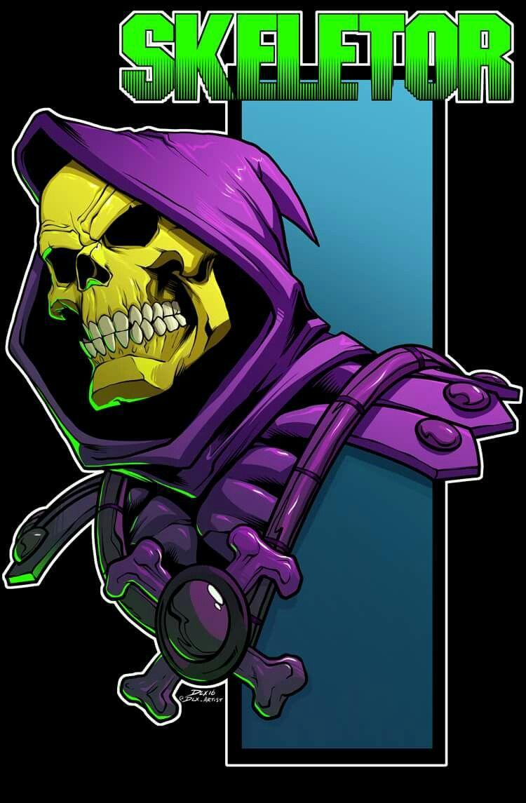 Funny Heman Skeletor Not Nice Bad Man Villain Old 80s 90s Cartoon Cool Sticker