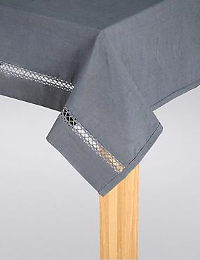 Lace Insert Tablecloth