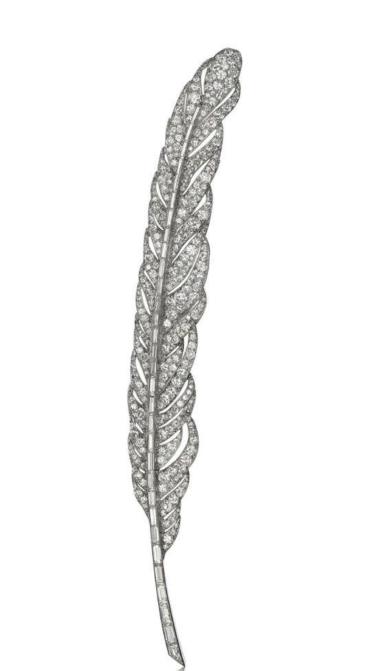 Feather brooch in platinum and diamonds, Van Cleef & Arpels, Paris, 1928.