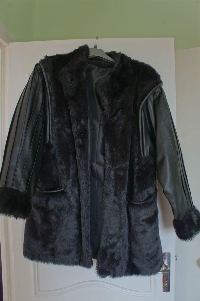 Veste en cuir femme taille 48