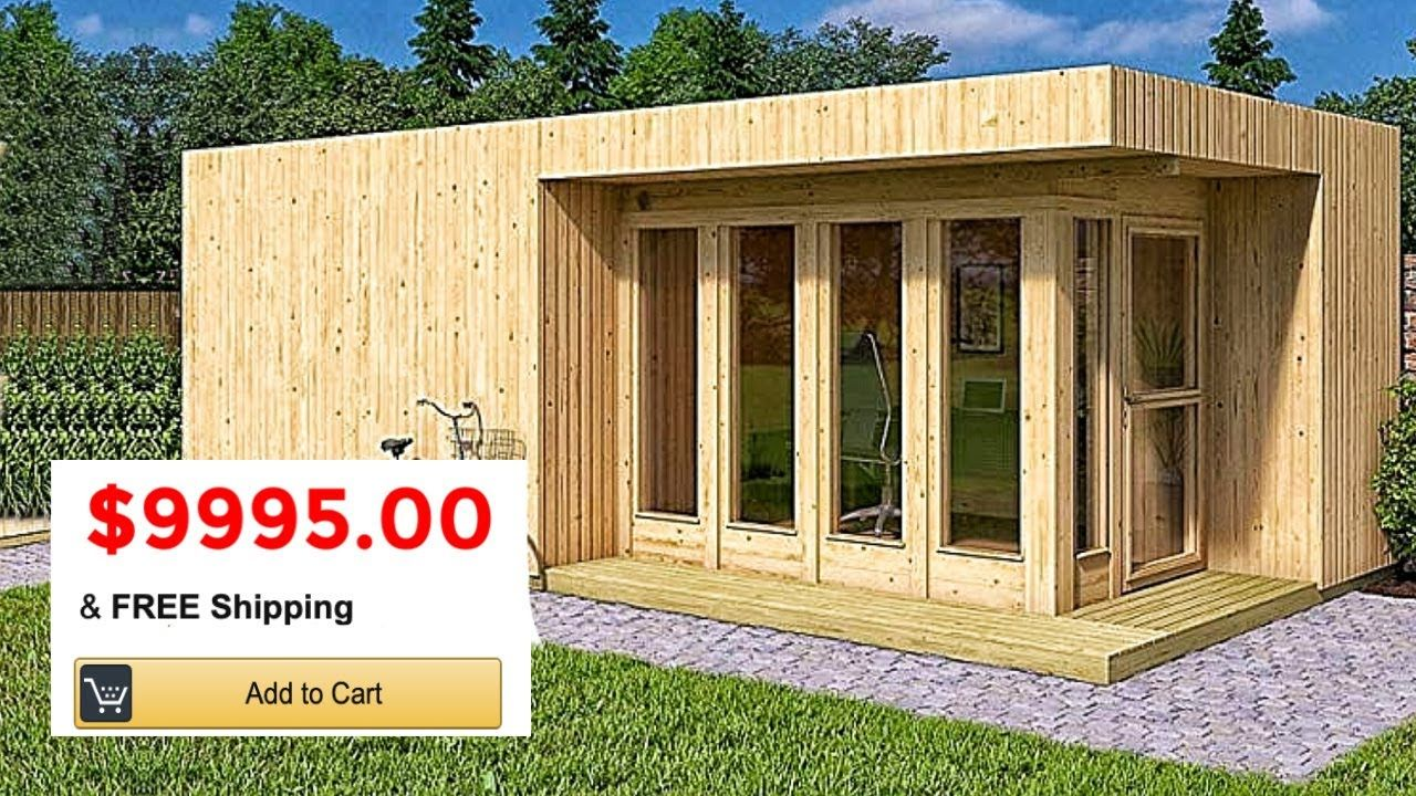 5 Tiny Manufactured Homes You Can Buy On Amazon For Under 40k Youtube Container House Building A Container Home Manufactured Home
