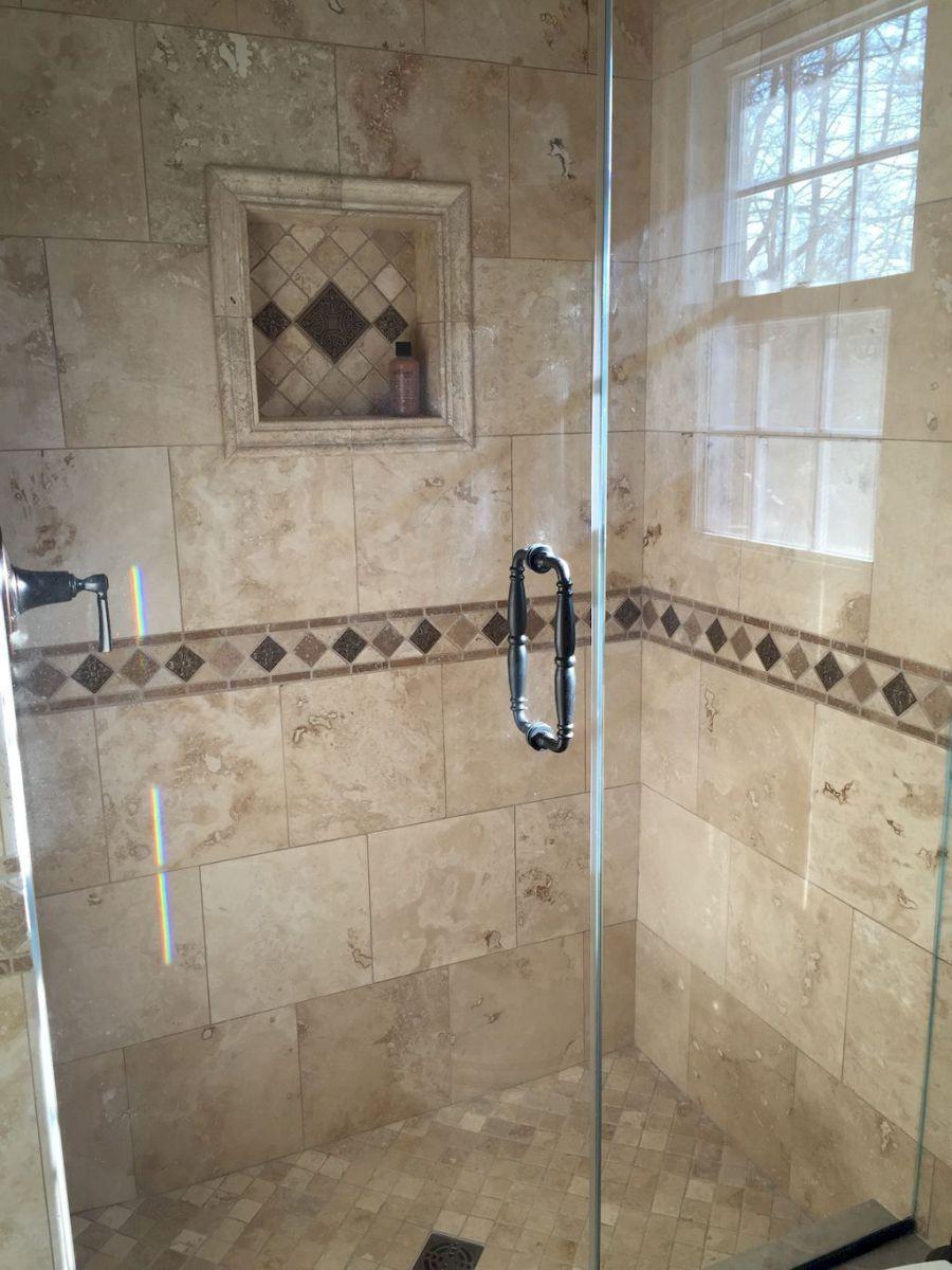 80 Stunning Tile Shower Designs Ideas For Bathroom Remodel 19
