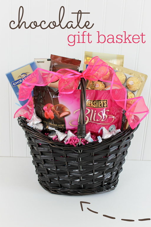 Mother 39 s day chocolate gift basket idea from ginger snap - Gift ideas with chocolate ...