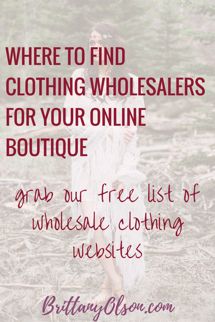 Find Wholesale Boutique Clothing 2018 - Free PDF | Wholesale ...