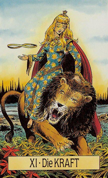 Arcus Arcanum Tarot: XI. Strength. Die Kraft.