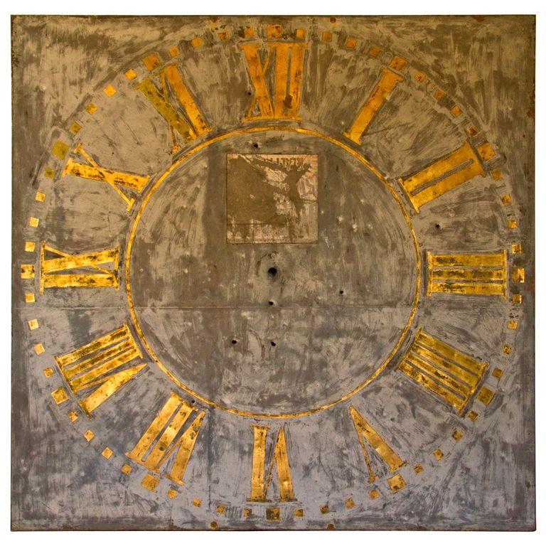 antique belgian clockface six by six feet sheet copper with iron
