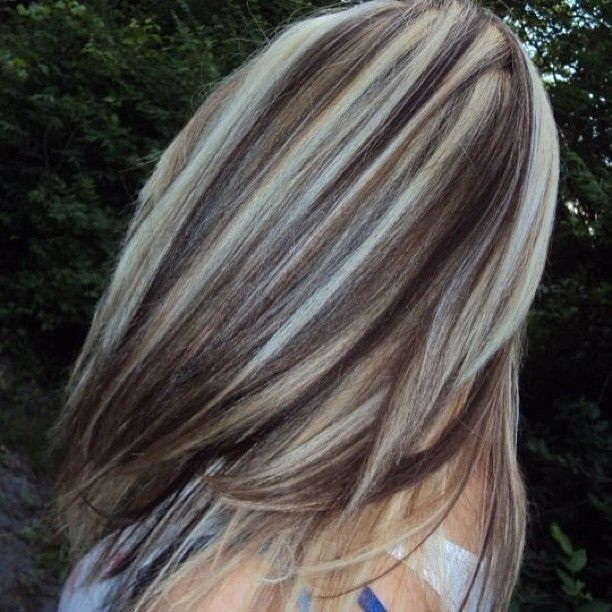 Hair Ideas For Next Hair Color Or Cut Chunky Red Brown And Blonde
