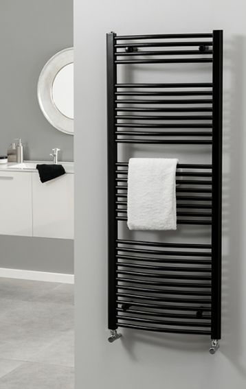 Radiator Company Poppy Curved Towel Warmer Heated Rail