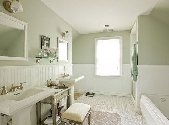Exceptionnel Serene Beadboard Bathroom. By Keri