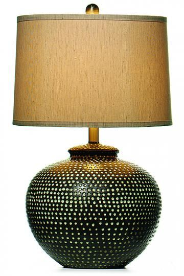 Hammered Ceramic Pot Table Lamp From Home Decorators