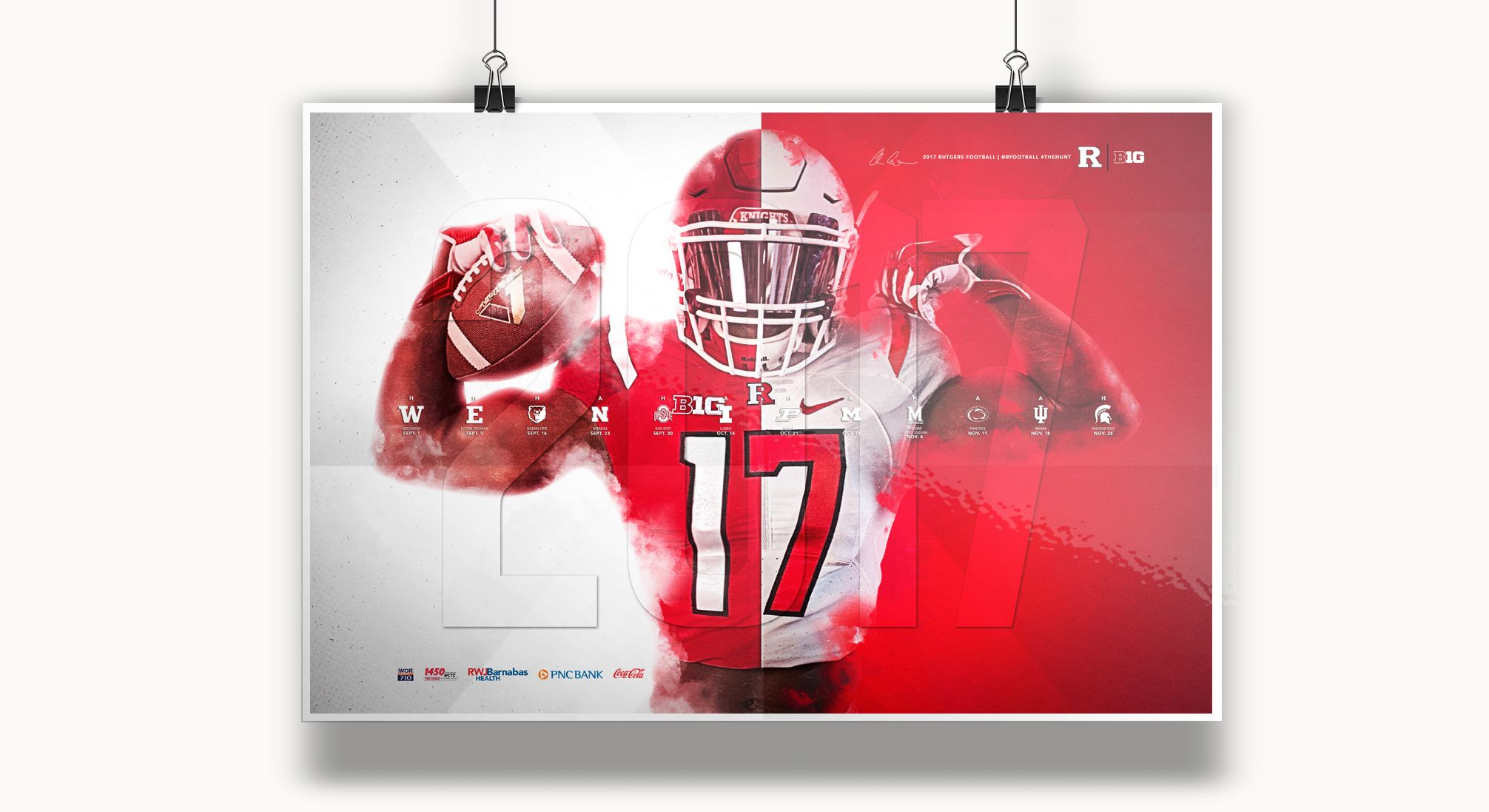2017 Rutgers Football Spring Poster On Behance Rutgers Football Football Sports Graphics