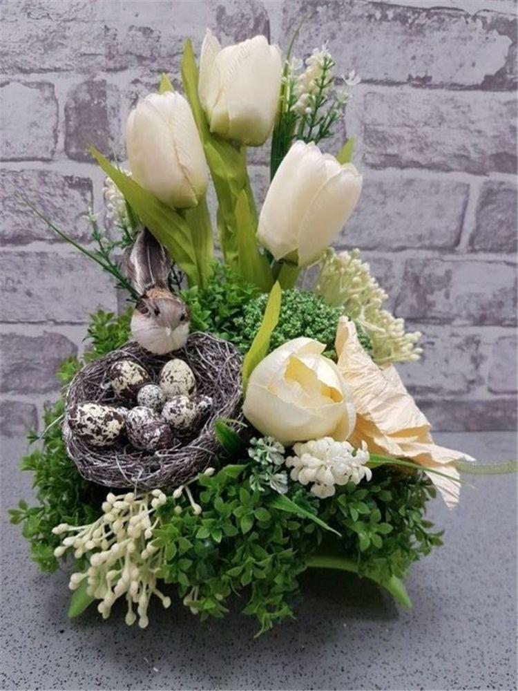 Pin By Malgorzata Kalbarczyk On Flower Decor Easter Flower Arrangements Easter Flowers Easter Arrangement