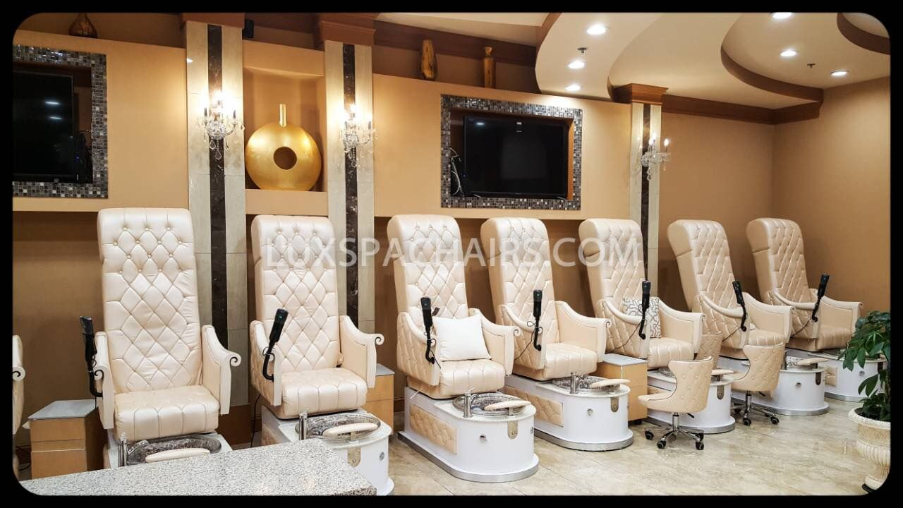 Luxspa High Back Queen Pedicure Chairs In Action The First European Queen Chair In The Market With Massage Sys Spa Furniture Pedicure Salon Beauty Salon Decor