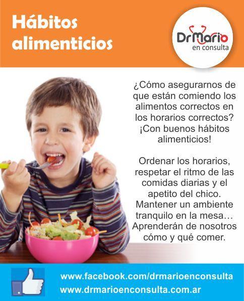 Hábitos alimenticios, ¿cómo lograrlos? Ver más: http://www.drmarioenconsulta.com.ar/?p=2987