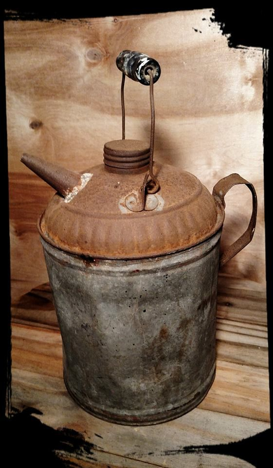 Vintage Metal Gas Can 1 Gallon Old Metal Can Collectible Etsy Gas Cans Canning Vintage Metal